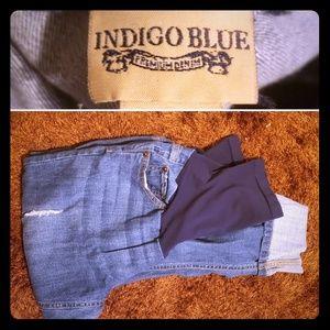 Denim - Full panel maternity cropped jeans